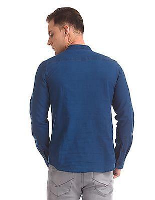 U.S. Polo Assn. Denim Co. Mandarin Collar Slim Fit Shirt