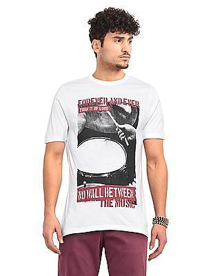 Colt White Round Neck Graphic T-Shirt