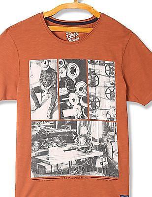 Flying Machine Standard Fit Printed T-Shirt