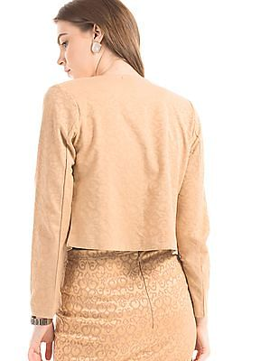 Cherokee Jacquard Open Front Jacket