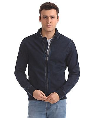 Aeropostale Regular Fit Denim Bomber Jacket