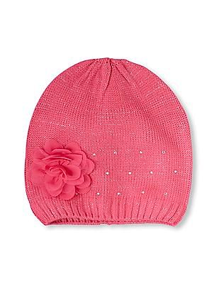 The Children's Place Girls 3D Flower Gemmed Beanie