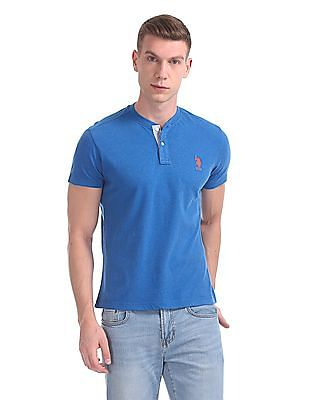 U.S. Polo Assn. Heathered Henley T-Shirt