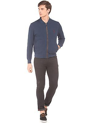 U.S. Polo Assn. Solid Slim Fit Bomber Jacket