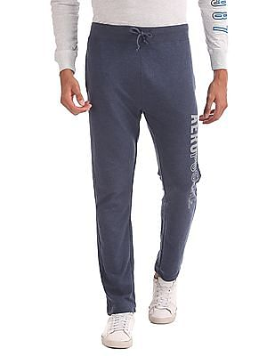 Aeropostale Elasticized Waist Heathered Track Pants