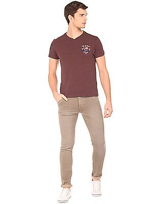 U.S. Polo Assn. Denim Co. V-Neck Muscle Fit T-Shirt