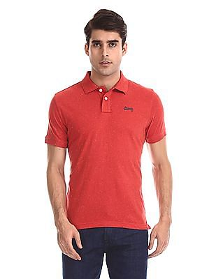 Aeropostale Short Sleeve Speckled Polo Shirt