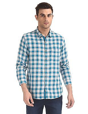 Cherokee Rounded Cuff Check Shirt