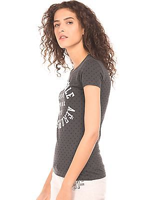 Aeropostale Star Print Cotton T-Shirt
