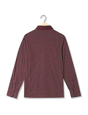 U.S. Polo Assn. Long Sleeves Printed Polo Shirt