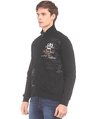 U.S. Polo Assn. Denim Co. Printed Zip Up Sweatshirt