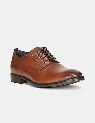 Cole Haan Men Brown Grand 2.0 Leather Derby Shoes