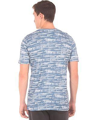 Cherokee Printed Round Neck T-Shirt