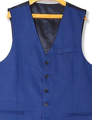 Arrow Slim Fit Patterned Waistcoat