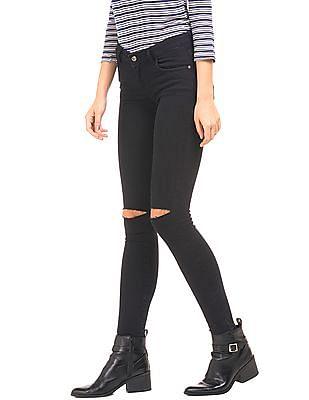 Cherokee Distressed Knee Super Skinny Fit Jeans