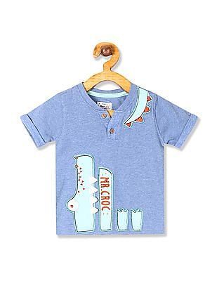 Donuts Boys Appliqued Henley T-Shirt