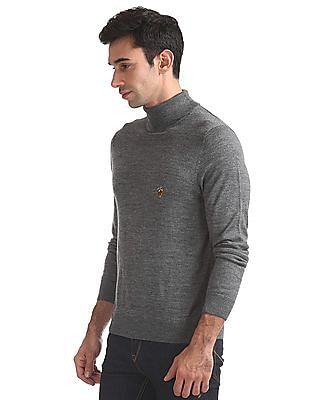 U.S. Polo Assn. Merino Wool Turtle Neck Sweater