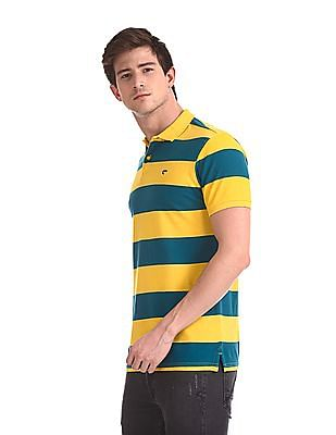 Ruggers Short Sleeves Striped Polo Shirt