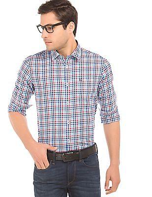 Arrow Sports Check Slim Fit Shirt