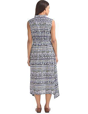 Bronz Spread Collar Maxi Dress
