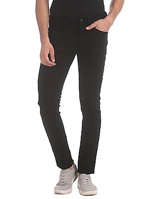 Flying Machine Black Jackson Skinny Fit Low Rise Jeans