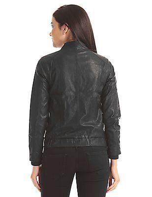 Flying Machine Women Notch Lapel Belted Jacket
