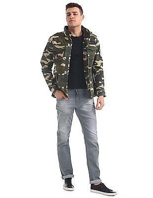 Ed Hardy Camo Print Hooded Jacket