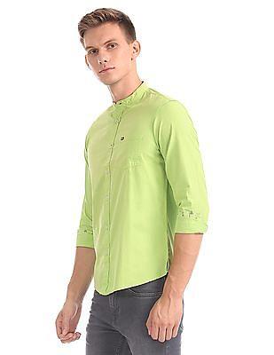 Arrow Sports Hudson Slim Fit Mandarin Collar Shirt
