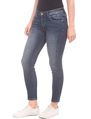 U.S. Polo Assn. Women Skinny Fit Stone Wash Jeans