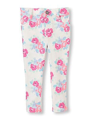 The Children's Place Baby Floral Print Jeggings