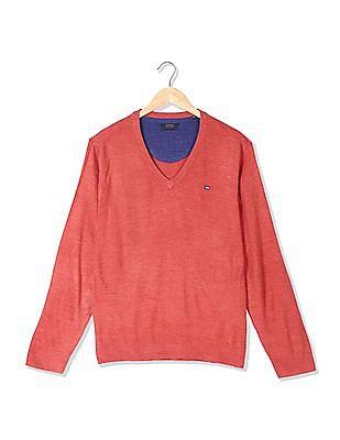Arrow Sports Heathered V-Neck Sweater