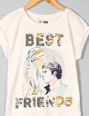 GAP Girls GapKids | Star Wars™ Flippy Sequin T-Shirt