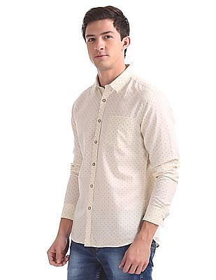 Flying Machine Regular Fit Printed Shirt