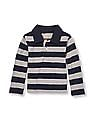 The Children's Place Toddler Boy Long Sleeve Striped Polo