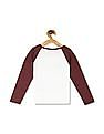 The Children's Place Girls White Active Long Raglan Sleeve Lace-Up Glitter Graphic Top