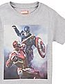 FM Boys Boys Captain America Print Cotton T-Shirt