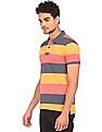 Flying Machine Striped Pique Polo Shirt