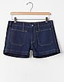 GAP Women Blue Authentic 1969 Patch Pocket Summer Shorts