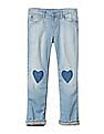 GAP Girls 1969 Jersey Lined Stretch Straight Jeans