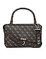 GUESS Linked Chain Brand Print Hand Bag