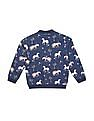 U.S. Polo Assn. Kids Girls Printed Regular Fit Sweatshirt