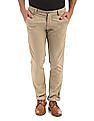 Arrow Sports Khaki slim-fit casual trousers