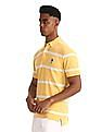 U.S. Polo Assn. Yellow Button Down Striped Polo Shirt