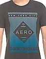 Aeropostale Heathered Printed T-Shirt