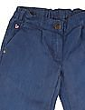 U.S. Polo Assn. Kids Girls Washed Chambray Palazzos
