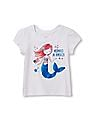 The Children's Place Toddler Girl Short Sleeve 'Mermaid In America' Graphic Tee