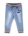 Donuts Blue Boys Embroidered Jogger Jeans