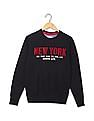 Arrow Sports Regular Fit Appliqued Sweatshirt