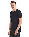Ruggers Blue Crew Neck Tipped T-Shirt