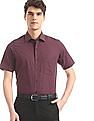 Arrow Red French Placket Check Shirt